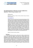 The implementation of CSR in the extractive industries in Indonesia: What is the government's role?
