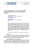 Is Emotional Intelligence an essential element in global learning environment to become socially responsible innovators?
