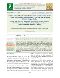 Critical Limits of phosphorus in relation to the growth and dry matter yield of french bean (Phaseolus vulgaris L.) in acid soils of Thoubal District, Manipur (India)