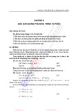 Bài giảng Phương pháp số - Chương 6: Giải gần đúng phương trình vi phân