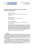 Theoretical Legal Assumptions for the United Nations Security Council Reform