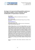 The Impact of Corporate Social Responsibility and Internal Marketing on Employee Turnover Intentions with the Mediating Role of Organizational Commitment