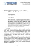 Non-formal Astronomy Education in Brazil: Analysis of works published in national scientific events