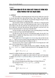 Vận hành hệ thống điện - Chương 3: Tính toán phân bố tối ưu công suất trong hệ thống điện bằng phương pháp quy hoạch động