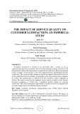 The impact of service quality on customer satisfaction; an empirical study