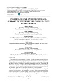 Psychological and educational support of students' self-regulation development