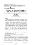 The role of ethics on the green behaviour of organic food in Indonesia: a case of North Sumatera