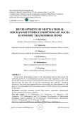 Development of motivational mechanism under conditions of socioeconomic transformations