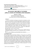 To study the impact of RFID applications on information sharing