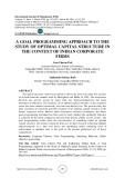 A goal programming approach to the study of optimal capital structure in the context of Indian corporate firms