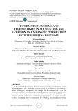 Information systems and technologies in accounting and taxation as a means of integration into the digital economy