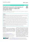 Nutritional assessment and prognosis of oral cancer patients: A large-scale prospective study
