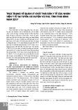 Thực trạng về quản lý chất thải rắn y tế của nhân viên y tế tại tuyến xã huyện Vũ Thư, tỉnh Thái Bình năm 2017