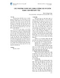 Các phương pháp xác định cường độ và biến dạng của nền đất yếu
