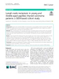 Lymph node metastasis in young and middle-aged papillary thyroid carcinoma patients: A SEER-based cohort study