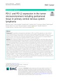 PD-L1 and PD-L2 expression in the tumor microenvironment including peritumoral tissue in primary central nervous system lymphoma