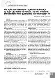 Xây dựng quy trình định lượng chì trong một số dược liệu trồng tại Vũ Vân - Vũ Thư - Thái Bình bằng phương pháp quang phổ hấp thụ nguyên tử