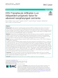 CD3+T-lymphocyte infiltration is an independent prognostic factor for advanced nasopharyngeal carcinoma