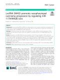 LncRNA SNHG5 promotes nasopharyngeal carcinoma progression by regulating miR1179/HMGB3 axis