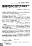 Điều kiện chăm sóc dinh dưỡng cho bệnh nhân mắc bệnh phổi tắc nghẽn mạn tính đang điều trị tại bệnh viện phổi Thái Bình năm 2017