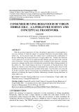 Consumer buying behaviour of virgin edible oils – a literature survey and conceptual framework