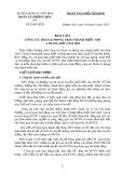 Báo cáo Công tác Đoàn và phong trào thanh thiếu nhi 6 tháng đầu năm 2020