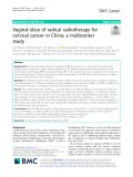 Vaginal dose of radical radiotherapy for cervical cancer in China: A multicenter study