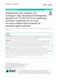 Establishment and validation of a nomogram with intratumoral heterogeneity derived from 18F-FDG PET/CT for predicting individual conditional risk of 5-year recurrence before initial treatment of nasopharyngeal carcinoma