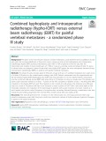 Combined kyphoplasty and intraoperative radiotherapy (Kypho-IORT) versus external beam radiotherapy (EBRT) for painful vertebral metastases - a randomized phase III study