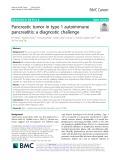 Pancreatic tumor in type 1 autoimmune pancreatitis: A diagnostic challenge