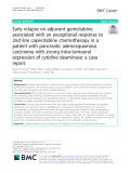 Early relapse on adjuvant gemcitabine associated with an exceptional response to 2nd line capecitabine chemotherapy in a patient with pancreatic adenosquamous carcinoma with strong intra-tumoural expression of cytidine deaminase: A case report