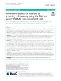 Advanced neoplasia in Veterans at screening colonoscopy using the National Cancer Institute Risk Assessment Tool