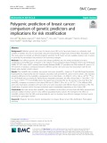 Polygenic prediction of breast cancer: Comparison of genetic predictors and implications for risk stratification