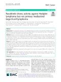 Ruxolitinib shows activity against Hodgkin lymphoma but not primary mediastinal large B-cell lymphoma