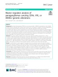 Master regulator analysis of paragangliomas carrying SDHx, VHL, or MAML3 genetic alterations