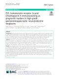 P53, Somatostatin receptor 2a and Chromogranin A immunostaining as prognostic markers in high grade gastroenteropancreatic neuroendocrine neoplasms
