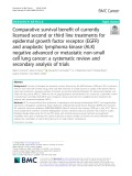 Comparative survival benefit of currently licensed second or third line treatments for epidermal growth factor receptor (EGFR) and anaplastic lymphoma kinase (ALK) negative advanced or metastatic non-small cell lung cancer: A systematic review and secondary analysis of trials