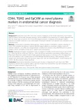CD44, TGM2 and EpCAM as novel plasma markers in endometrial cancer diagnosis