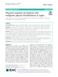 Physician requests by patients with malignant pleural mesothelioma in Japan