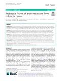 Prognostic factors of brain metastases from colorectal cancer