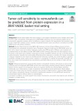 Tumor cell sensitivity to vemurafenib can be predicted from protein expression in a BRAF-V600E basket trial setting