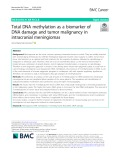 Total DNA methylation as a biomarker of DNA damage and tumor malignancy in intracranial meningiomas