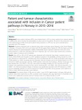 Patient and tumour characteristics associated with inclusion in Cancer patient pathways in Norway in 2015–2016