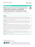 Measuring the impact of oesophagectomy on physical functioning and physical activity participation: A prospective study