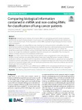 Comparing biological information contained in mRNA and non-coding RNAs for classification of lung cancer patients