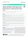 Dynamic prediction of long-term survival in patients with primary gastric diffuse large B-cell lymphoma: A SEER population-based study
