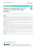 Response of neuroblastoma cells to RF currents as a function of the signal frequency