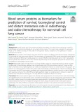Blood serum proteins as biomarkers for prediction of survival, locoregional control and distant metastasis rate in radiotherapy and radio-chemotherapy for non-small cell lung cancer