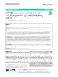 MiR-155 promotes anaplastic thyroid cancer progression by directly targeting SOCS1