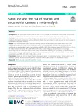 Statin use and the risk of ovarian and endometrial cancers: A meta-analysis